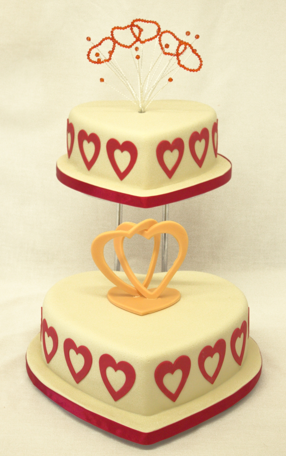 Barker Bakes love forever cake with heart crystal topper