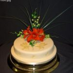 1 tier wedding cakes 1009