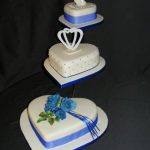 3070 3 tier heart wedding cakes
