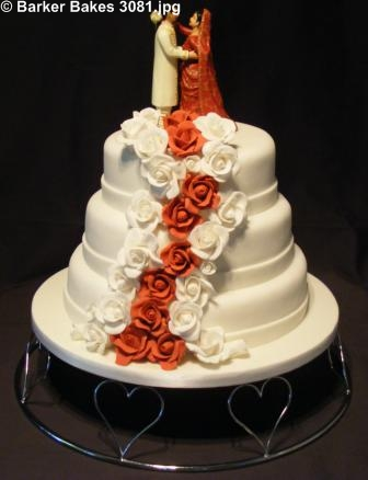 3081 wedding cakes with sugar flowers