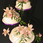 3114 wedding cakes with sugar flowers