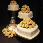 3003 3 Tier Wedding Cakes 3 tier wedding cakes,with sugar trnkets
