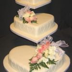 3001 3 tier wedding cakes with fresh flowers