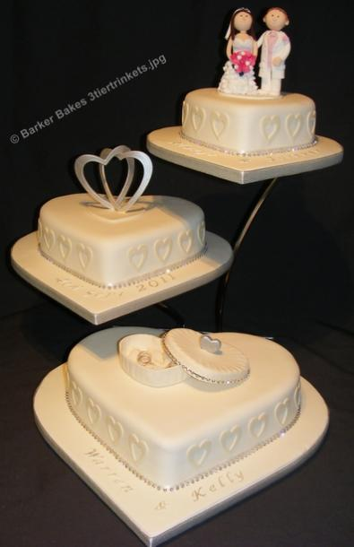 wedding cakes heart shaped 3 tier wedding cakes barker bakes ltd 24484