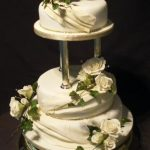 3064 wedding cakes with sugar drapes