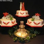3100 - 3 Tier wedding cake with fountain
