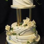 3088 - 3 tier wedding cakes, wedding cakes with drapes