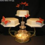 3101 - 3 Tier wedding cake with fountain