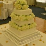 3061 3 tier wedding cakes with fresh flowers