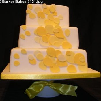 3131_wm 3 tier square wedding cakes