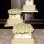 3090 3 tier wedding cakes with fresh flowers