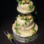 3107 wedding cakes with sugar drapes
