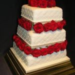 3098 3 tier wedding cakes with fresh flowers