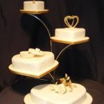 4035 4 tier heart wedding cakes