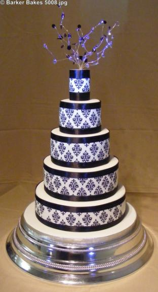 5 Tier Wedding Cakes Barker Bakes Ltd