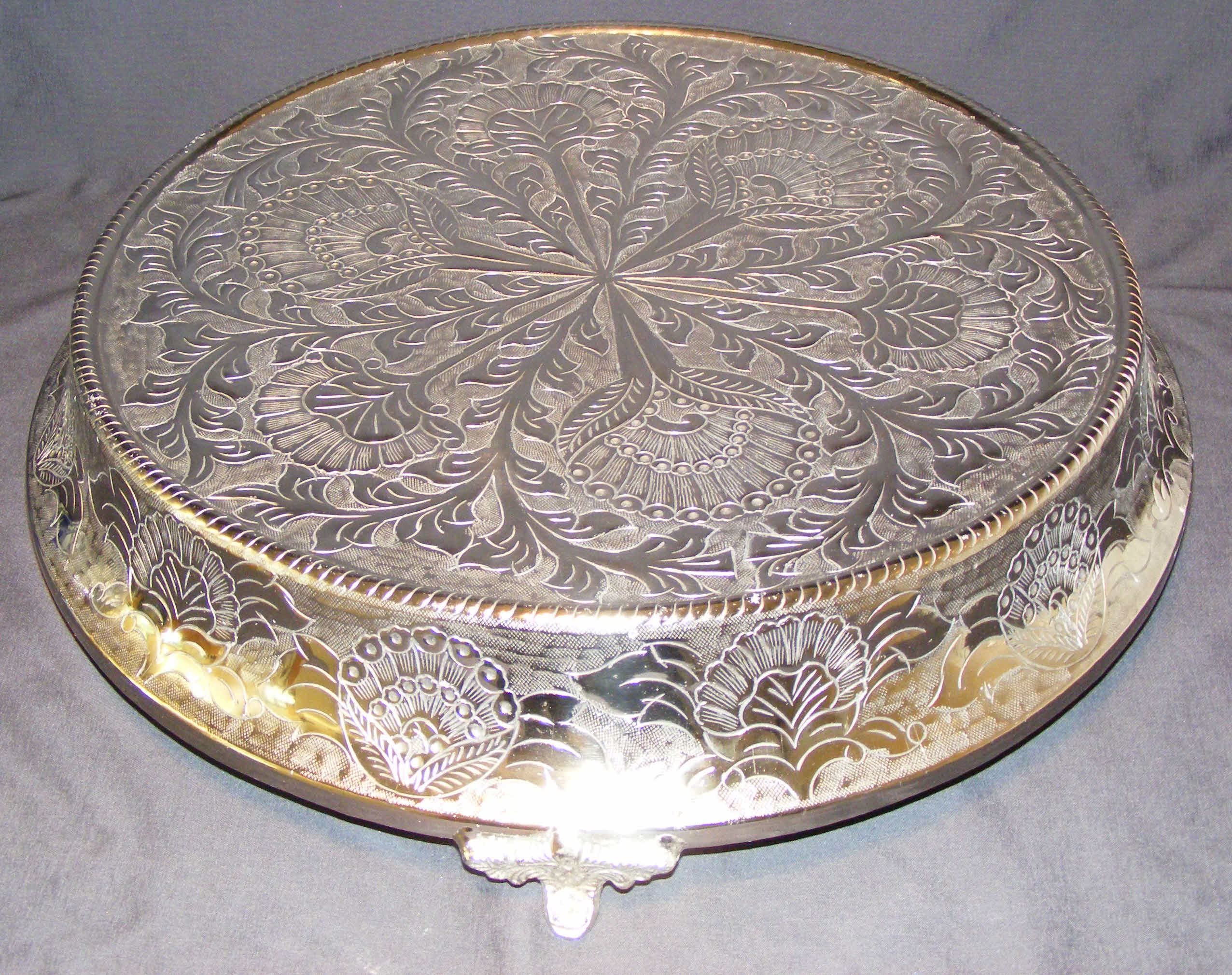 Large Silver Wedding Cake Stands