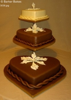 3038 - Chocolate Wedding Cakes