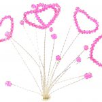 Hot Pink Crystal Hearts Topper