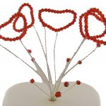 Red Crystal Hearts Topper