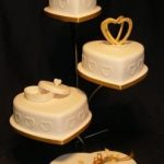 4023 4 tier heart wedding cakes