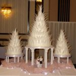 3 large feathers wedding cakes - Large Wedding Cakes