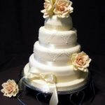 4033 4 tier round wedding cakes