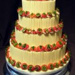 4034 4 tier round wedding cakes