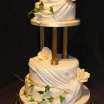 4037 4 tier round wedding cakes
