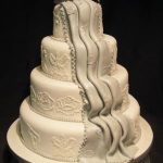 4047 4 tier round wedding cakes