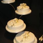 4055_wm 4 tier round wedding cakes