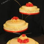 4056_wm 4 tier round wedding cakes