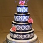 4064_wm 4 tier round wedding cakes