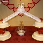 4007 4 tier round wedding cakes