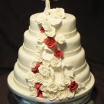 4021 4 tier round wedding cakes