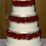 4022 4 tier round wedding cakes
