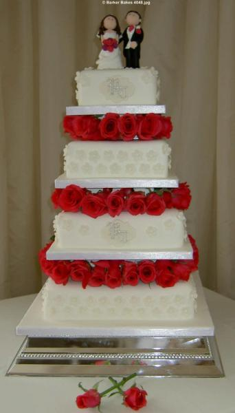 square wedding cake designs uk square wedding cakes barker bakes ltd 20385
