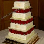 4058_wm 4 tier square wedding cakes