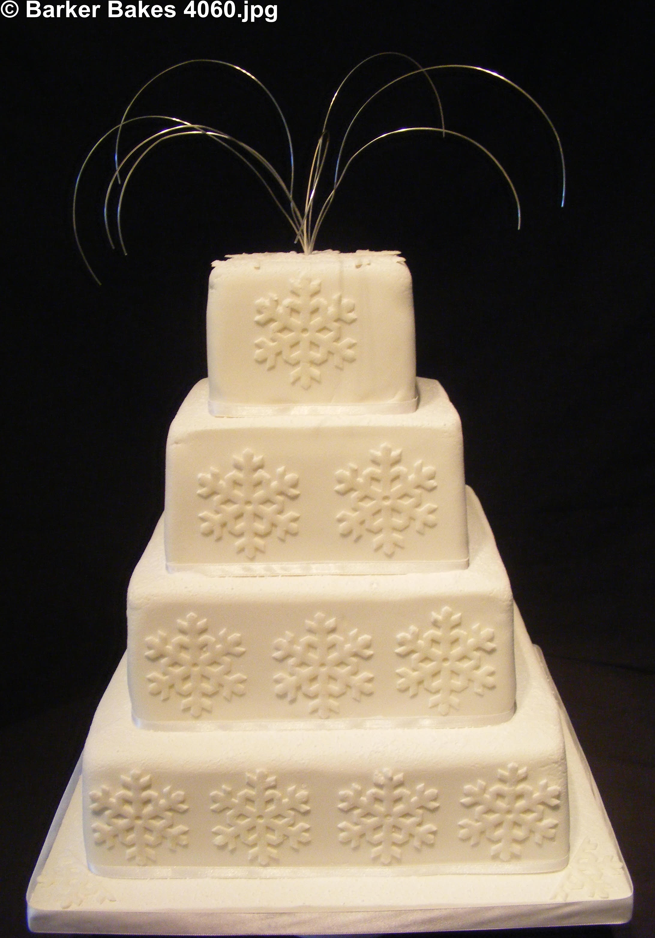 Square Wedding Cakes – Barker Bakes Ltd