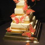 4062_wm 4 tier square wedding cakes