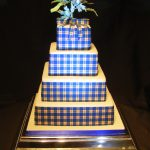4063_wm 4 tier square wedding cakes