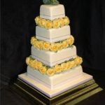4006 4 tier square wedding cakes
