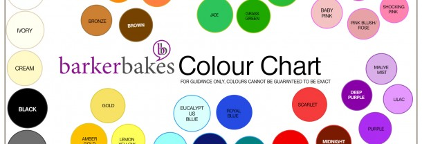 Barker Bakes Colour Chart
